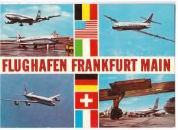 TRANSPORT AERODROME FRANKFURT MAIN GERMANY BIG CARD OLD POSTCARD - Aerodrome