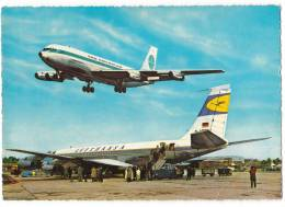 TRANSPORT AERODROME FRANKFURT RHEIN-MAIN GERMANY BIG CARD JAMMED OLD POSTCARD - Aerodrome