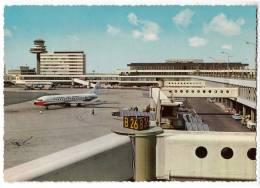 TRANSPORT AERODROME SCHIPHOL AMSTERDAM HOLLAND BIG CARD OLD POSTCARD - Aerodrome