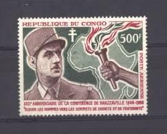 Congo  -  Avion  -  1966  :  Yv  38  (o)  De Gaulle - Congo - Brazzaville