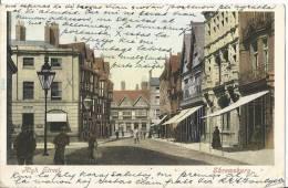 High Street  Shrewsbury  Shropshire U.K    Post Card  1907 - Shropshire