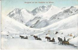 Bergpost Auf Der Passhöhe Im Winter    AK CPA 1909 - Non Classés