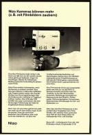 Reklame Werbeanzeige 1969 ,  Nizo Filmkamera  -  ....können Mehr ;  Z.B. Mit Filmbildern Zaubern - Camcorder