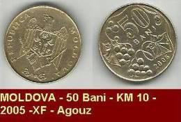 MOLDOVA - 50 Bani - KM 10 - 2005 -XF - Agouz - Moldavie