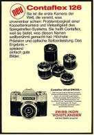 Reklame Werbeanzeige 1968 ,  Zeiss Ikon Vogtländer Kamera Contaflex 126 - Photographica