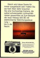 Reklame Werbeanzeige 1968 ,  Zeiss Ikon Vogtländer Kamera Vitessa 500 AE - Photographica