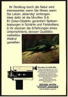 Reklame Werbeanzeige 1968 ,  Zeiss Ikon Vogtländer Filmkamera Moviflex S 8 - Photographica