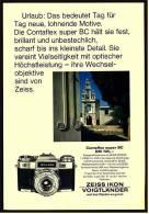 Reklame Werbeanzeige 1968 ,  Zeiss Ikon Vogtländer Kamera Contaflex Super BC - Photographica