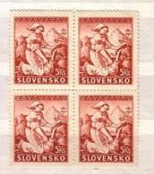 Slovaquie / Slovakia 1939   Michel 45  1v.-MNH ** Block Of Four - Slovakia