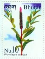 MEDICINAL PLANT SERIES 4 STAMP SET BHUTAN 2002 MINT MNH - Planten