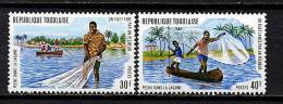 Rep. Togo ** N° 809/810 - Pêche Dans La Lagune - Togo (1960-...)