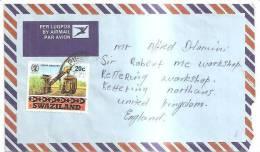 66797)lettera Aerea Swaziland Con Un Valore + Annullo - Swaziland (1968-...)