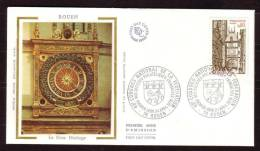 """Y/T N° 1875 Sur FDC Sur SOIE - Oblit  1 Ier J. : """" ROUEN - 24/4/76 """" - Fédération Des Sociétés Philatéliques Françaises. - FDC"""