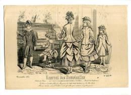 - GRAVURE DE MODE POUR ENFANTS . XIXe S. DATEE 1875 . - Libros
