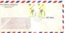 66819)lettera Aerea Cinese Con 2 Valori + Annullo - Usati