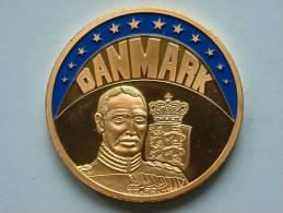 ECU DANMARK 1997 / Goudkleurige PENNING Met Blauwe Glazuur ( Details Zie Foto´s) !! - Jetons & Médailles