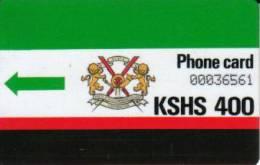 KENYA 400 SHILINGS FIRST 1ST AUTELCA ISSUE SLASHED 0 NO NOTCH BIG SN KEN-04 CV$15US READ DESCRIPTION !! - Kenya