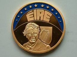 ECU EIRE 1997 / Goudkleurige PENNING Met Blauwe Glazuur ( Details Zie Foto´s) !! - Jetons & Médailles