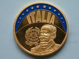 ECU ITALIA 1997 / Goudkleurige PENNING Met Blauwe Glazuur ( Details Zie Foto´s) !! - Non Classés
