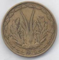 BANQUE CENTRALE ETATS DE L´AFRIQUE DE L´OUEST 25 FRANCS 1970 - Monete