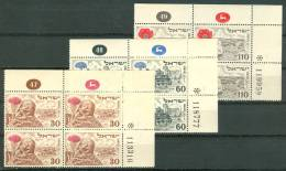 Israel PLATE BLOCK - 1951, Michel/Philex No. : 69-71, - MNH - *** - - Blocks & Kleinbögen