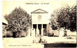 Rare Carte Photo  Le Temple  Trescol GARD Brunel Photo Alais - Religions & Beliefs