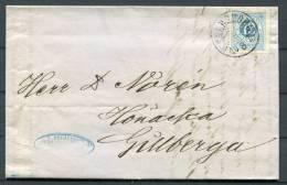 1873 Sweden 12ore  Wenersborg - Gillberga Entire