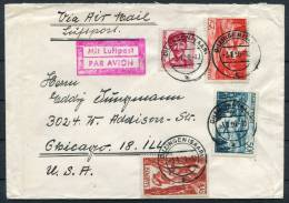 1950 Saar Germany Dillingen Airmail Cover To USA - Unclassified