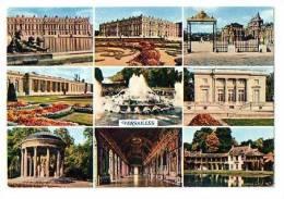 """VERSAILLES :  """"Le Château Et Le Parterre D' Eau"""" - Multivue - Versailles (Château)"""