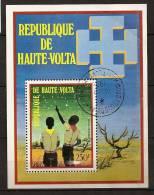 Haute-Volta 1973 N° BF 5K O Scouts, Scoutisme, Connaissance Des étoiles, Désert, Astrologie, Voie Lactée - Opper-Volta (1958-1984)