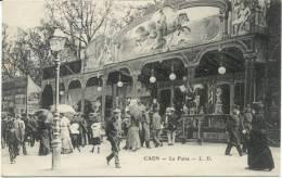 Cpa Caen 14 La Foire Manege - Caen