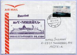 Schiffspost Färöer Island Mf NORRÖNA Paquebot 1984 (274) - Färöer Inseln