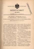 Original Patentschrift - M. Maranz In Proskurow , Russland Und Gestüthof , 1899 , Apparat Für Zucker - Füllmasse  !!! - Historische Dokumente