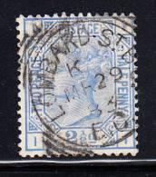 Great Britain Used Scott #82 2 1/2p Victoria, Ultra Plate 23 Position II Cancel: Lombard St MR 29 83 - Oblitérés