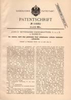 Original Patentschrift - CONUS - Kettenloser Fahrrad - Antrieb GmbH In Hamburg , 1899 , Luftradreifen Aus Einzelzellen ! - Historische Dokumente
