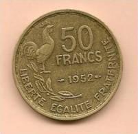 50 F FRANCE G.Guiraud 1952. - France
