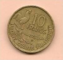 10 F FRANCE G.Guiraud 1953 B. - France