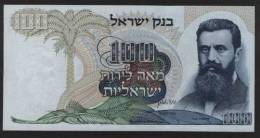 ISRAEL, 1968, 100 LIROT, #P-37d, BROWN SERIAL, Aunc - Israele