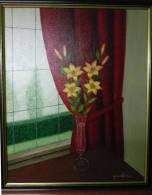 Bloemen In Vaas - Quentana - Olieverf