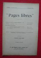 Pages Libres N° 258 - 5e Année 9 Décembre 1905 - Revue - Livres, BD, Revues