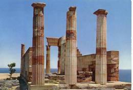 CP Temple De Lindos Minerva Rhodes  écrite (traces De Plis) - Monuments