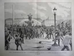 Paris , Manifestation Du 1er Mai , Délégation Ouvriére Se Rendant A La Chambre  , Gravure Gusman Dessin De Morel1890 - Documents Historiques