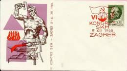 6th CONGRES OF SKH, Zagreb, 5.12.1968., Yugoslavia, Cover - Ohne Zuordnung