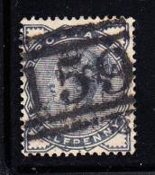 Great Britain Used Scott #98 1/2p Victoria, Slate Blue Cancel '159' - Oblitérés