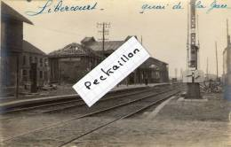62 Libercourt, Rare Carte Photo, Quai De La Gare - Autres Communes