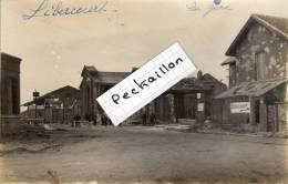 62 Libercourt, Rare Carte Photo,  La Gare - Autres Communes