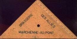 """Publicité """"Brasserie Des Alliés - MARCHIENNE-AU-PONT"""" : Sur équerre En Bois - Autres Collections"""