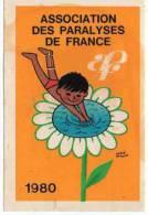 Autocollant Association - Paralyses De France 1980 Hervé Morvan - Adesivi