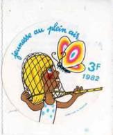 Autocollant Association - Jeunesse Au Plein Air 1982 - Hervé Morvan - Stickers