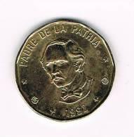 DOMINICAANSE  REPUBLIEK  1 PESO  1992 - Dominicaine